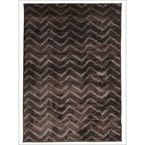 Zaida 452 Brown Grey Chevron Patterned Moroccan Rug - Rugs Of Beauty - 1