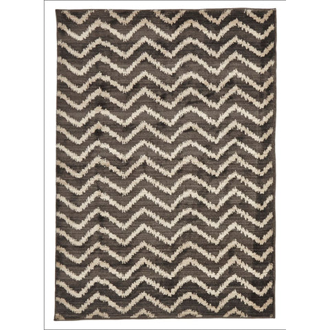 Zaida 453 Charcoal Grey Beige Chevron Patterned Moroccan Rug - Rugs Of Beauty - 1