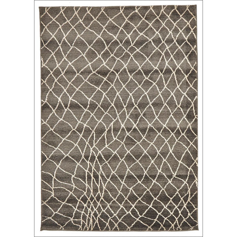 Zaida 462 Grey Beige Trellis Web Pattern Moroccan Rug - Rugs Of Beauty - 1