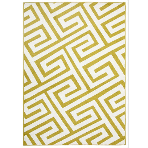 Cozumel 550 Indoor Outdoor Gold Maze Patterned Rug - Rugs Of Beauty - 1