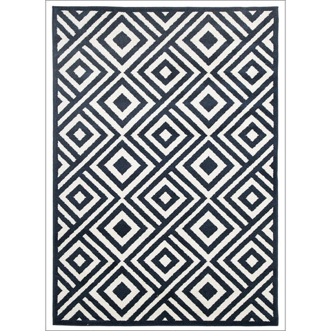 Indoor Outdoor Matrix Rug Navy - Rugs Of Beauty