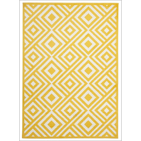 Cozumel 554 Indoor Outdoor Yellow Diamond Patterned Rug - Rugs Of Beauty - 1