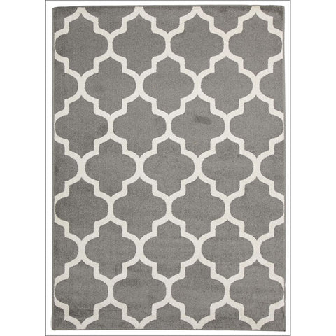 Cozumel 559 Indoor Outdoor Moroccan Grey Beige Trellis Patterned Rug - Rugs Of Beauty - 1