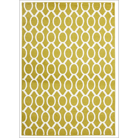 Cozumel 561 Indoor Outdoor Beige Gold Linked Oval Patterned Rug - Rugs Of Beauty - 1