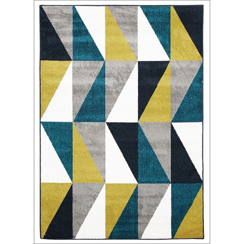 Indoor Outdoor Mica Rug Blue Citrus Grey - Rugs Of Beauty