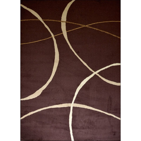 Retro Modern Arc Rug - Brown - Rugs Of Beauty