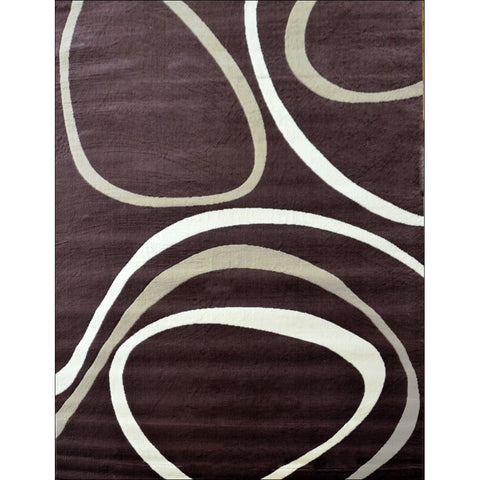 Retro Modern Laguna Rug - Brown - Rugs Of Beauty