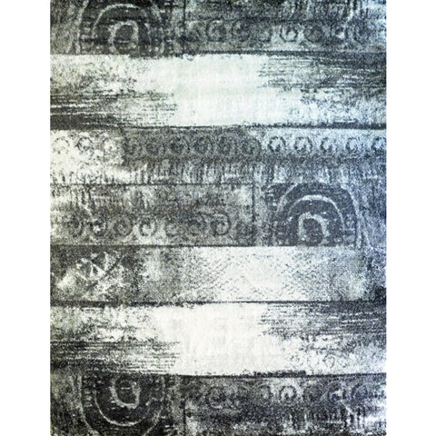 Anthracite & Grey Pattern Designer Rug - Rugs Of Beauty - 1