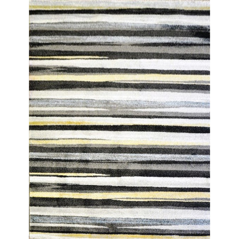 Anthracite & Dark Grey Stripe Designer Rug - Rugs Of Beauty - 1