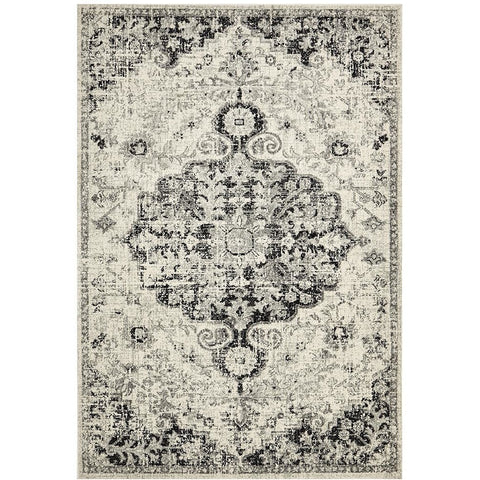 Adoni 150 Transitional Bohemian Charcoal Grey Rug - Rugs Of Beauty - 1
