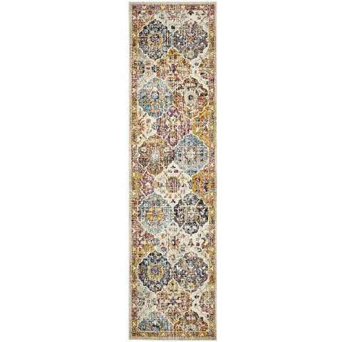 Adoni 151 Transitional Bohemian Multi Coloured Runner Rug - Rugs Of Beauty - 1