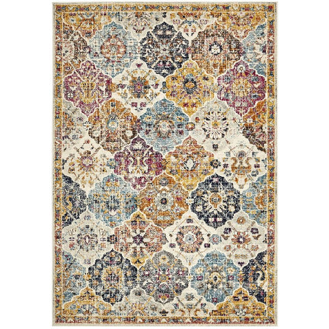 Adoni 151 Transitional Bohemian Multi Coloured Rug - Rugs Of Beauty - 1