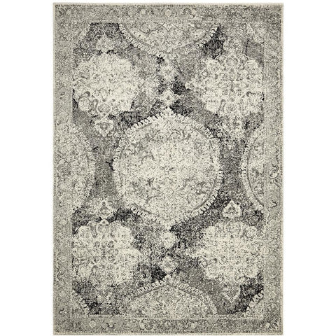 Adoni 152 Transitional Bohemian Charcoal Grey Rug - Rugs Of Beauty - 1