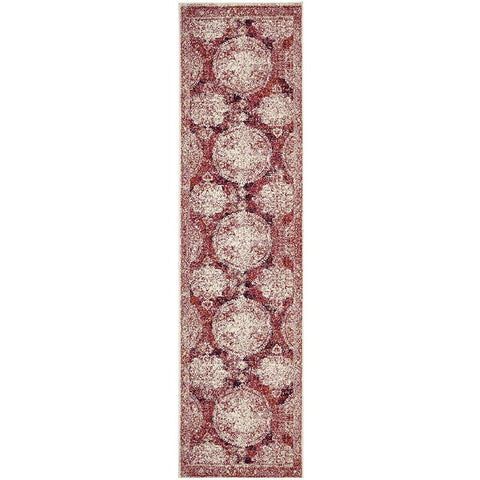 Adoni 152 Transitional Fuchsia Runner Rug - Rugs Of Beauty - 1