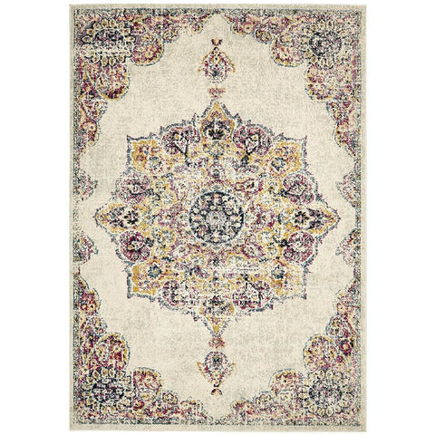 Adoni 154 Bohemian Bone Multi Coloured Rug - Rugs Of Beauty - 1