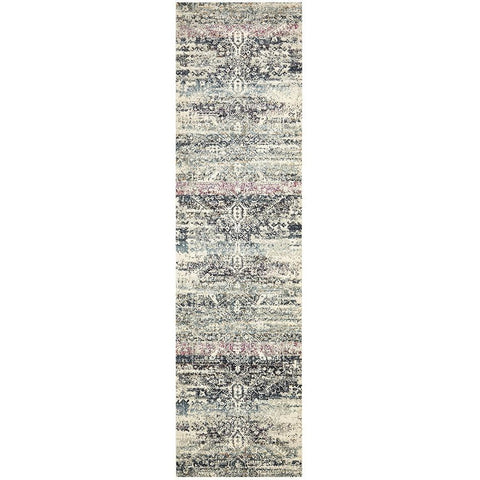 Adoni 155 Bohemian Blue Runner Rug - Rugs Of Beauty - 1