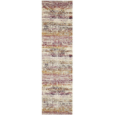 Adoni 155 Transitional Fuchsia Multi Coloured Runner Rug - Rugs Of Beauty - 1