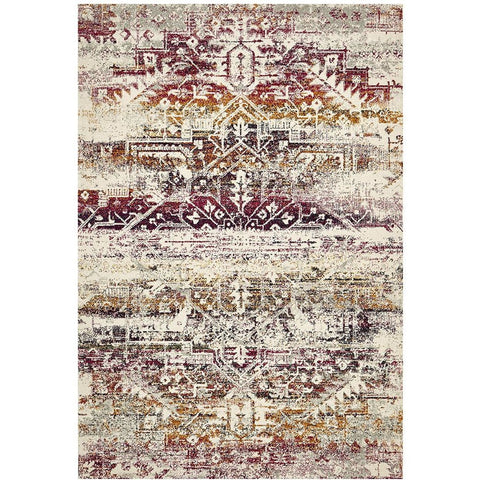 Adoni 155 Transitional Fuchsia Multi Coloured Rug - Rugs Of Beauty - 1