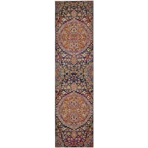 Adoni 157 Transitional Pink Rust Multi Coloured Runner Rug - Rugs Of Beauty - 1