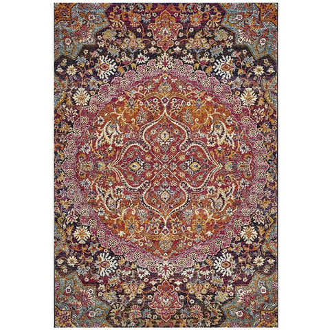 Adoni 157 Transitional Pink Rust Multi Coloured Rug - Rugs Of Beauty - 1