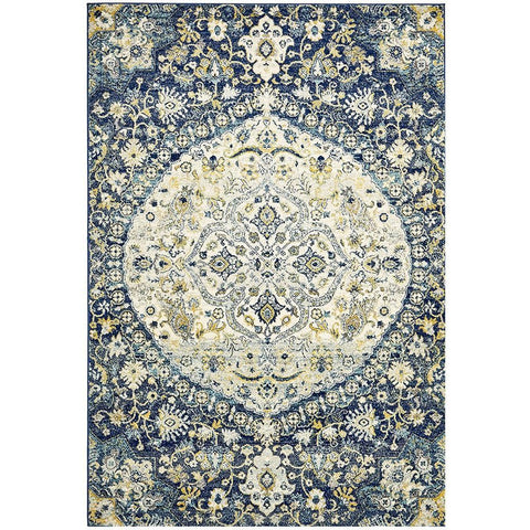 Adoni 157 Transitional Navy Blue Rug - Rugs Of Beauty - 1