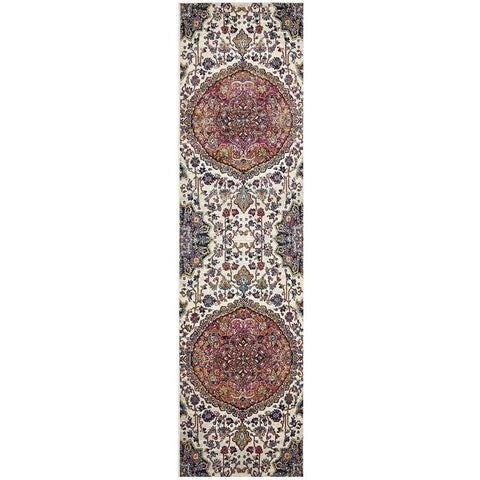 Adoni 157 Transitional Rust Beige Multi Coloured Runner Rug - Rugs Of Beauty - 1