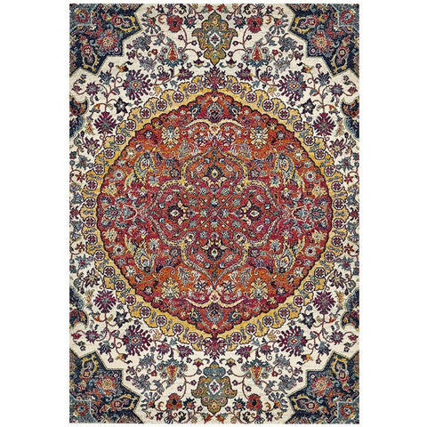 Adoni 157 Transitional Rust Beige Multi Coloured Rug - Rugs Of Beauty - 1