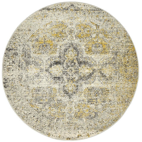 Adoni 158 Transitional Silver Grey Round Rug - Rugs Of Beauty - 1