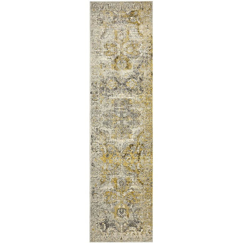 Adoni 158 Transitional Silver Grey Runner Rug - Rugs Of Beauty - 1