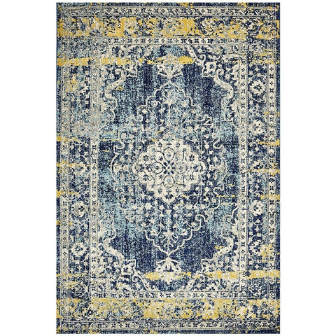 Adoni 159 Transitional Navy Blue Rug - Rugs Of Beauty - 1