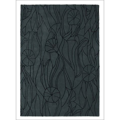 Mexx Ivy 13304 Charcoal Designer Wool Rug - Rugs Of Beauty