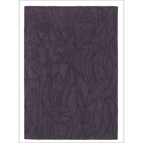 Mexx Ivy 13305 Purple Designer Wool Rug - Rugs Of Beauty