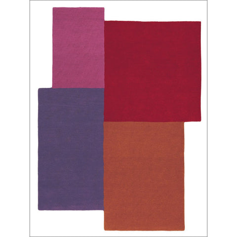Mexx Panel 14900 Multi Colour Panels Designer Wool Rug - Rugs Of Beauty