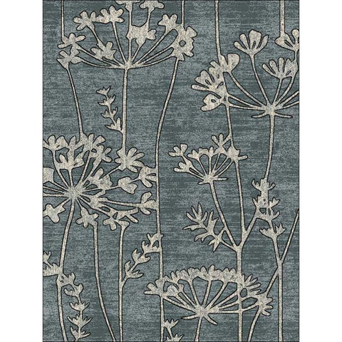 Delicate Floral Pattered Grey Rug - Rugs Of Beauty - 1