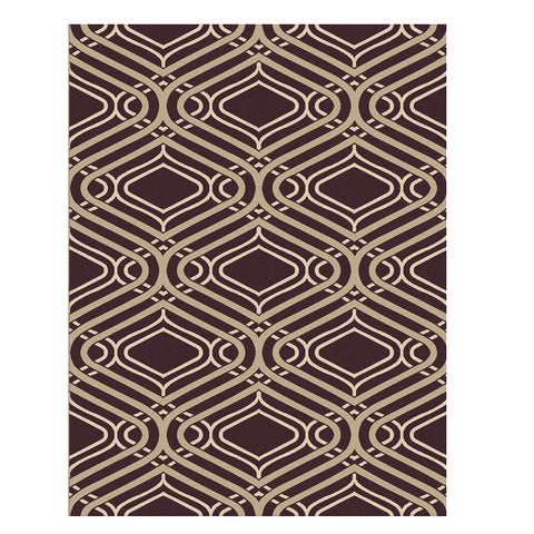 Corby 1364 Dark Brown Modern Patterned Rug - Rugs Of Beauty - 1