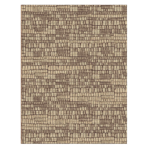Corby 1363 Light Brown Modern Patterned Rug - Rugs Of Beauty - 1