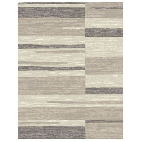 Caldwell Grey Beige Abstract Patterned Modern Rug - 1