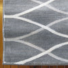 Caldwell Grey Thin Wave Abstract Patterned Modern Rug - 5