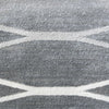 Caldwell Grey Thin Wave Abstract Patterned Modern Rug - 6