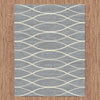 Caldwell Grey Thin Wave Abstract Patterned Modern Rug - 3