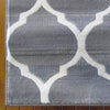 Caldwell Beige Lattice Grey Trellis Patterned Modern Rug - 3