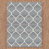 Caldwell Beige Lattice Grey Trellis Patterned Modern Rug - 4