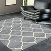 Caldwell Beige Lattice Grey Trellis Patterned Modern Rug - 2