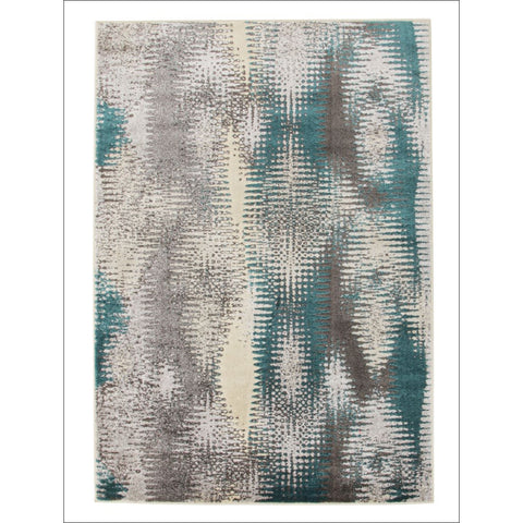 Hannah Matrix Modern Rug Blue Grey - Rugs Of Beauty - 1