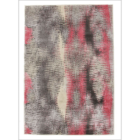 Hannah Matrix Rug Pink Grey - Rugs Of Beauty - 1