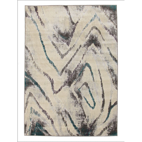 Dillon Geo Modern Blue Grey Rug - Rugs Of Beauty - 1