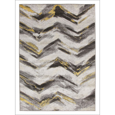 Ella Chevron Modern Rug Grey Yellow - Rugs Of Beauty - 1