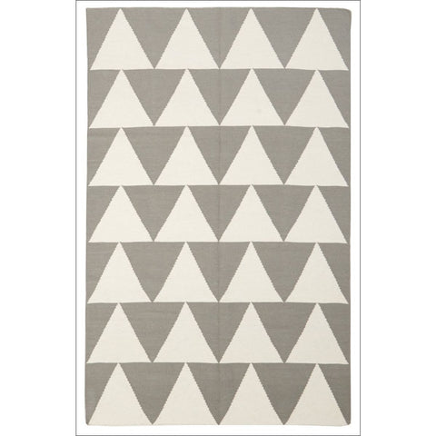 Pyramid Flat Weave Rug Grey - Rugs Of Beauty