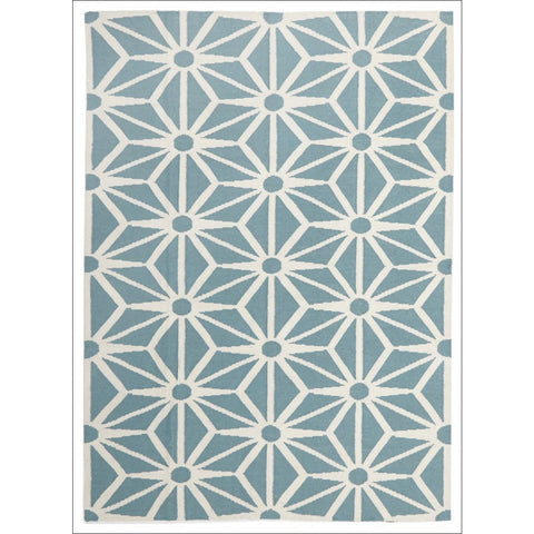 Dandelion Flat Weave Wool Rug Blue - Rugs Of Beauty