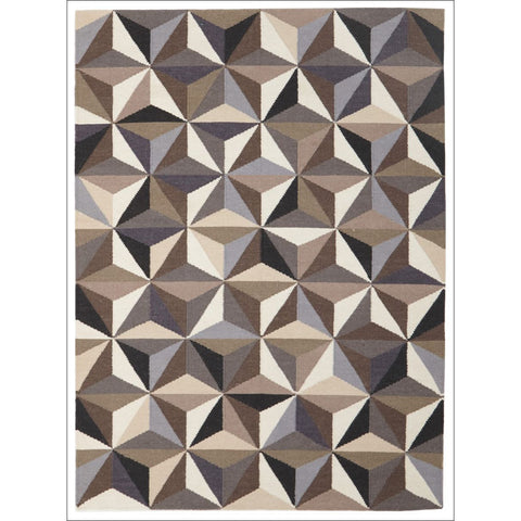 Dimensions Flat Weave Designer Wool Rug Grey - Rugs Of Beauty